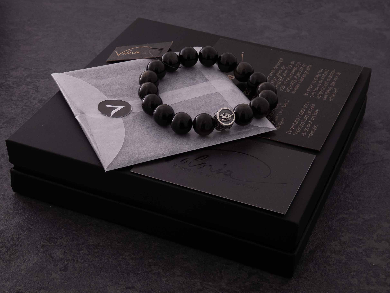 verpakking obsidiaan armband