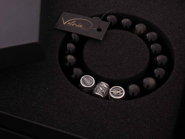 verpakking golden obsidiaan armband