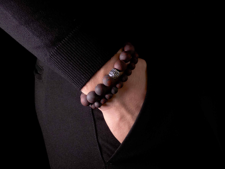 Rode armband jaspis