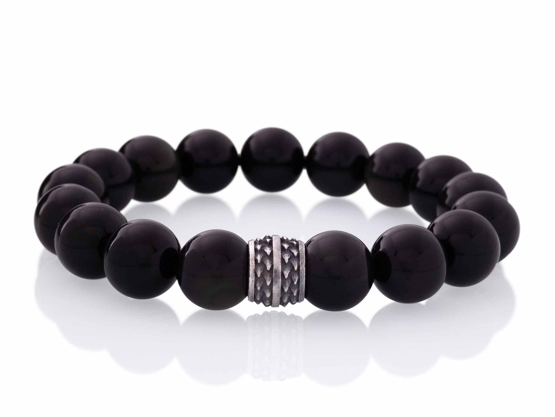 obsidiaan armband 12mm